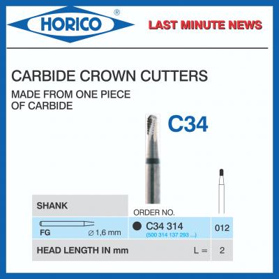 Freza  Horico CROWN CUTTERS FG C34 314 012