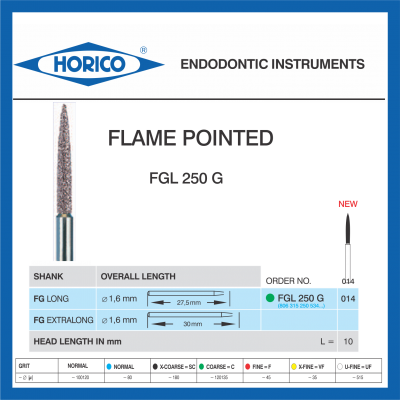 Freza Diamantata Horico FGL 250 G 014