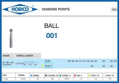 Freza Diamantata Horico W 001 F