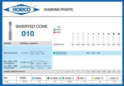 Freza Diamantata Horico FG 010 G